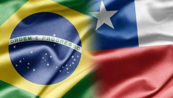 bandeira chile e brasil